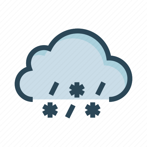 cloud, raining, snow, weather, winter icon