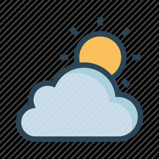 bright, cloud, shine, sun, weahter icon