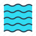 nature, river, sea, water, waves icon