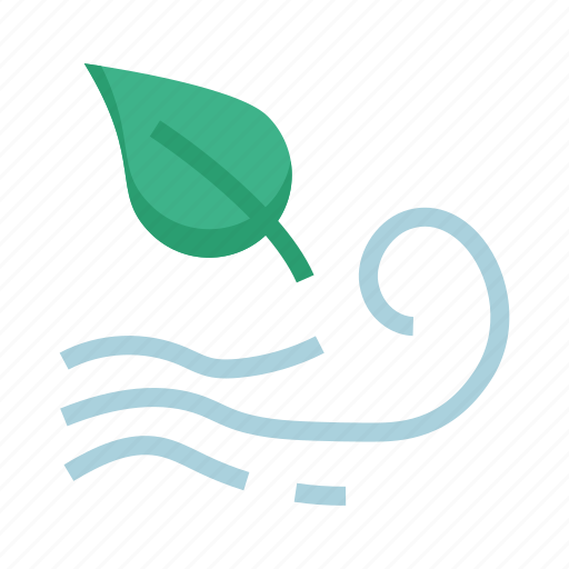 air, blows, climate, weather, wind icon
