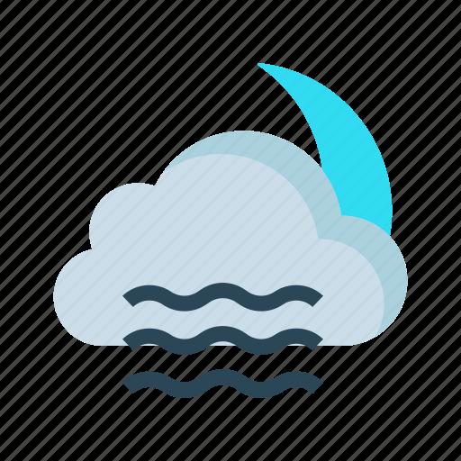 climate, cloud, moon, night, sleep icon