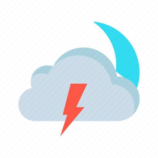 climate, cloud, moon, night, weather icon