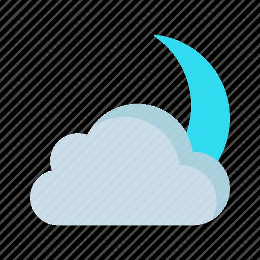 cloud, moon, night, sleep, weather icon