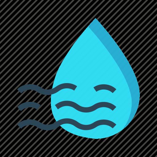 climate, drops, rain, river, weather icon