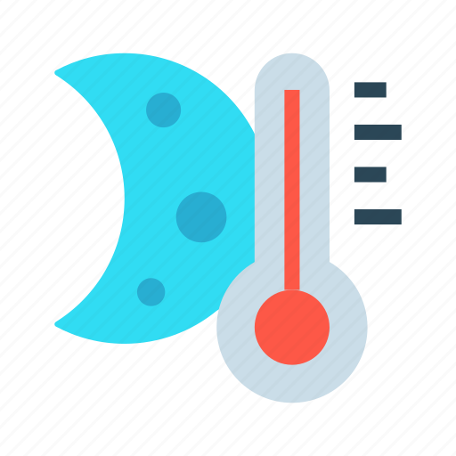 climate, moon, night, temperature, weather icon