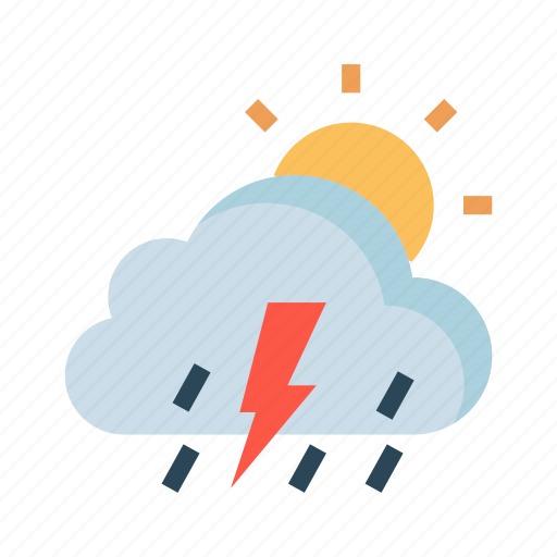 climate, cloud, day, raining, sun icon