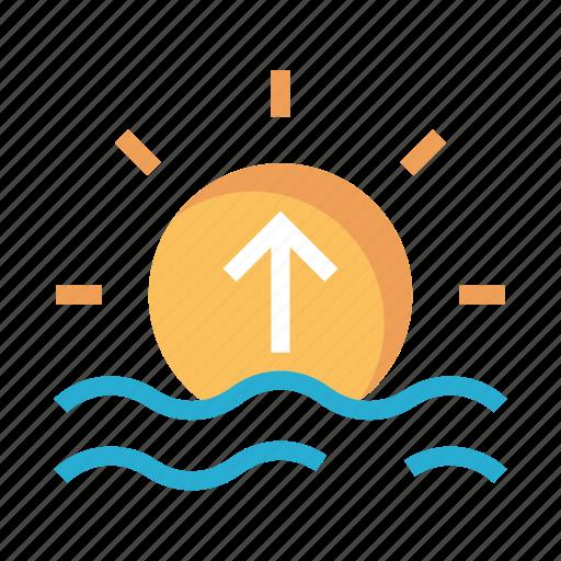 day, river, sea, shine, sun icon