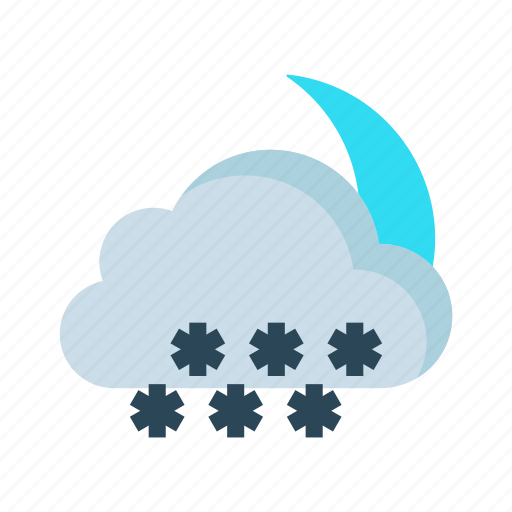 climate, cloud, snowfalling, snowflake, weather icon