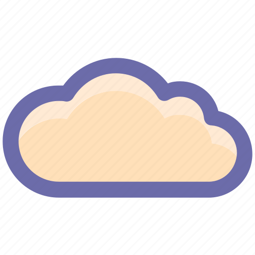 cloud, clouds, cloudy, cool, line, storage, weather icon