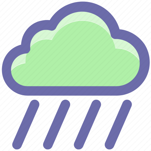 cloud, cloudy, rain, rainy, water, weather icon