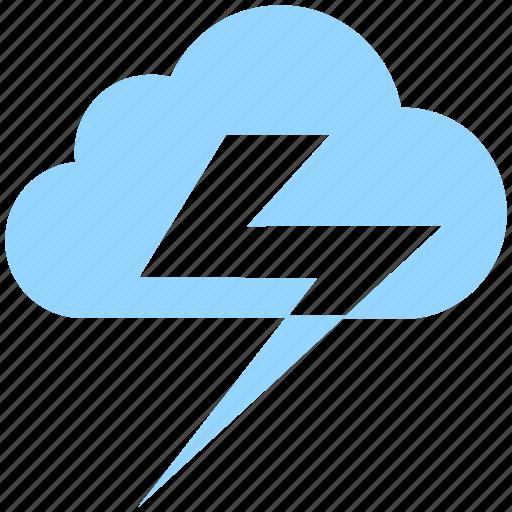 cloud, lightning, meteo, meteorology, thunder, weather icon