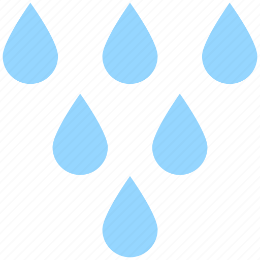 drops, rain, rainy, shower, water, weather icon