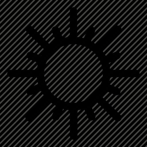 brightness, day, sun, warm, weather icon