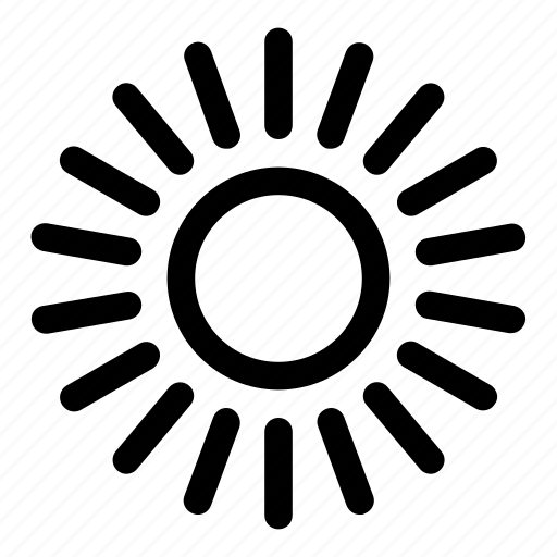 brightness, day, sun, warm, weather icon