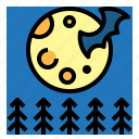 astronomy, full, meteorology, moon, phase icon