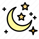 fresh, night, nightclear, sky, star icon