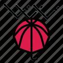 protect, raindrops, rainy, umbrella, winter
