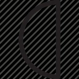 half, month, moon icon