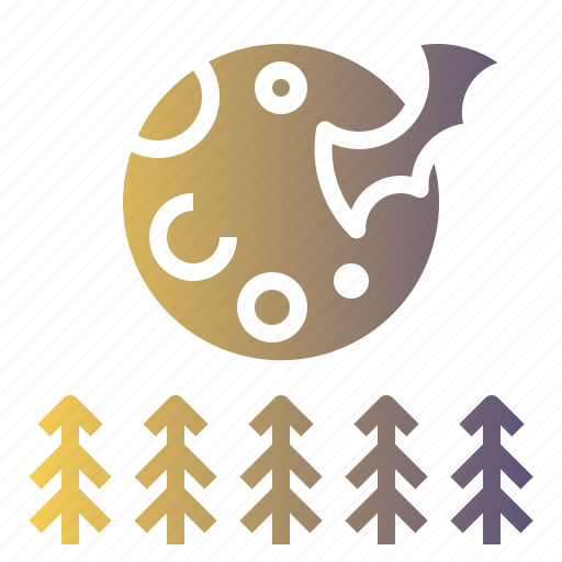 Forecast, full moon, moon, night, stars icon - Download on Iconfinder