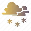 cloud, sky, snow, snowing, sunny icon