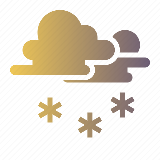 Cloud, sky, snow, snowing, sunny icon - Download on Iconfinder