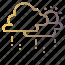 cloud, drizzly, rainy, sky, sunny