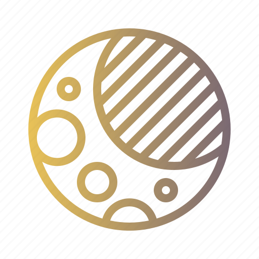 astronomy, lunar, moon, night, phases, stars icon