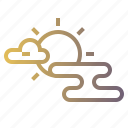 cloudy, meteorology0a, partly, sky, sunny icon