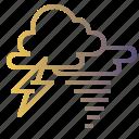 lightning, storm, stormy, thunder