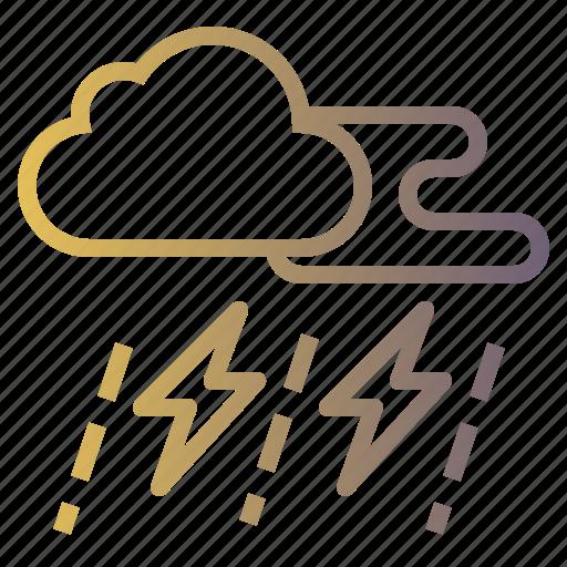 lightning, rain, rainy, storm, thunder icon