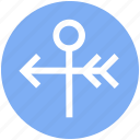 arrow, forecast, vane, weather vane, wind icon