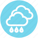 cloud, cloudy, forecast, rain, rainy, weather icon