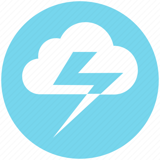 cloud, lightning, meteo, meteorology, thunder, weather icon