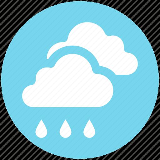 cloud, cloudy, forecast, rain, rainy, weather icon
