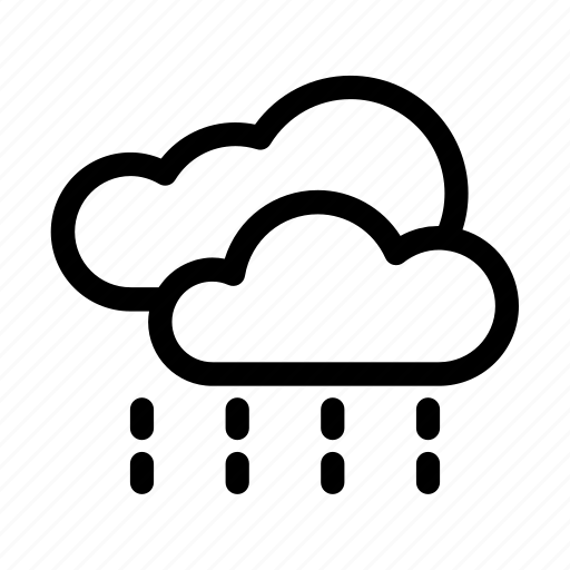 climate, cloud, forecast, rainy, season, weather icon