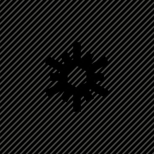 christmas, decoration, forecast, snow, snowflake, weather, winter icon