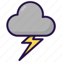 cloud, cloudy, storm, weather icon