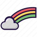 cloud, cloudy, rainbow, weather