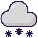cloud, cloudy, snow, weather
