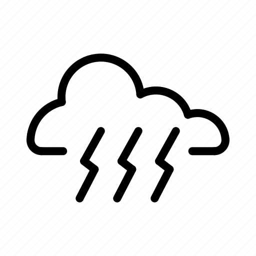 Cloud, rainy, storm, weather icon - Download on Iconfinder
