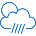 cloud, cloudy, rainy, rainy day, weather icon