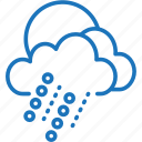 cloud, cloudy, cold, rain, snow, weather, wet icon