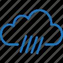 cloud, cloudy, rain, rainy day, storm, weather icon