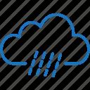cloud, cloudy, cold, rain, rainy, storm, weather icon