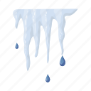 conceals, drop, heat, ice, icicle icon