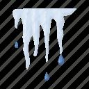 conceals, drop, heat, ice, icicle