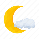 cloud, forecast, moon, weather, weather forecaster