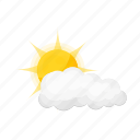 cloud, cloudiness, sun, variable, weather