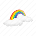cloud, forecast, rainbow, weather, weather forecaster icon