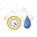 barometer, cloud, drop, forecast, weather